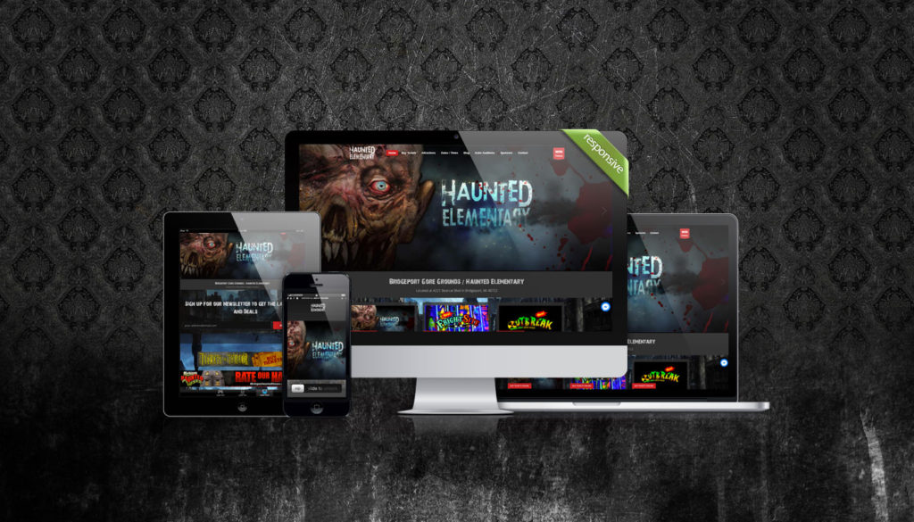 Haunted House Responsive Website Design by Nightmare Academy