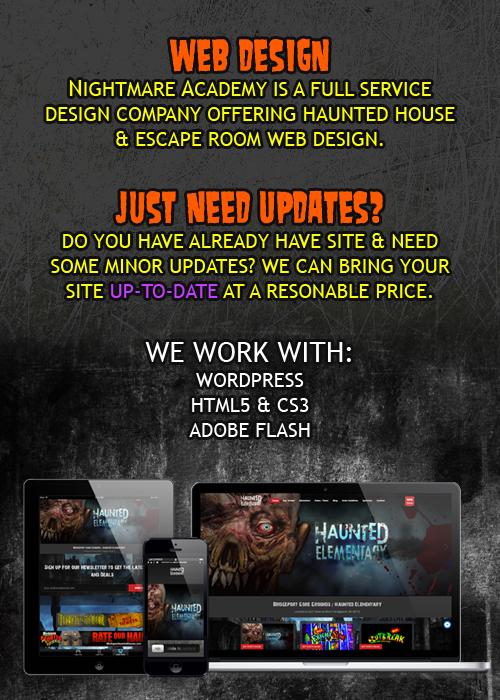 Haunted House Responsive Website Design