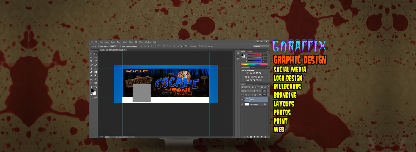 Graphic Design for Haunted Attractions and Escape Rooms by Goraffix